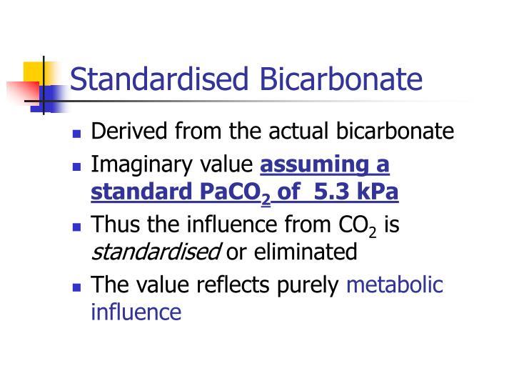Standardised Bicarbonate