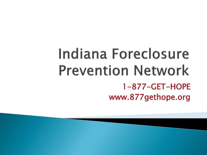 Indiana Foreclosure Prevention Network