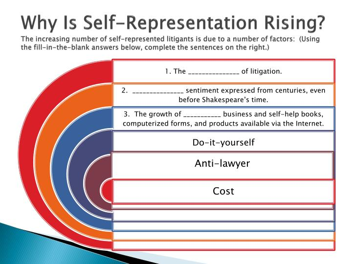 Why Is Self-Representation Rising?