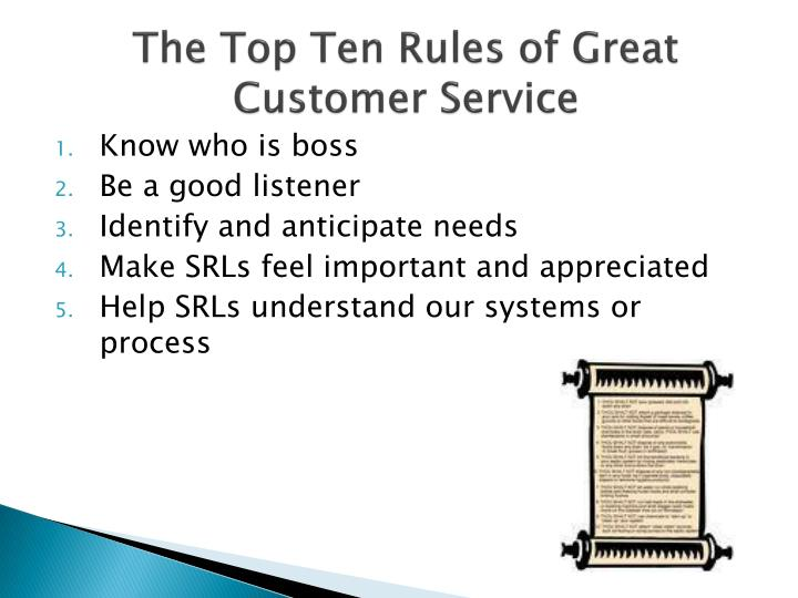 The Top Ten Rules of Great Customer Service