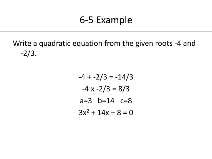 PPT - Chapter 6 Exploring Quadratic Functions and Inequalities ...