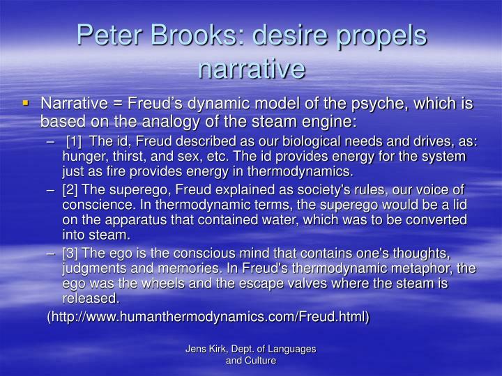 Peter Brooks: desire propels narrative