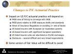 changes to p c actuarial practice