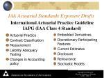 iaa actuarial standards exposure drafts