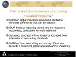 why is a global insurance accounting standard required