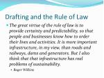 drafting and the rule of law