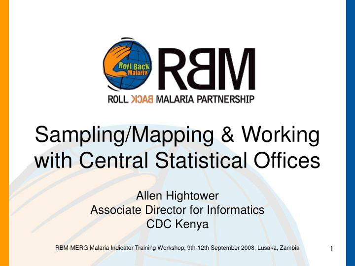 Sampling mapping working with central statistical offices