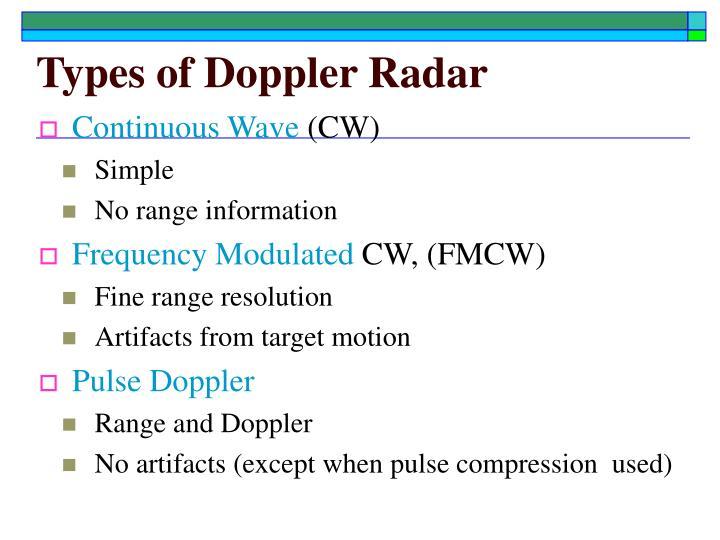 Cw doppler radar ppt