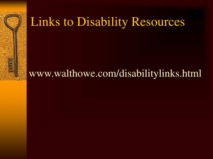 Links to Disability Resources