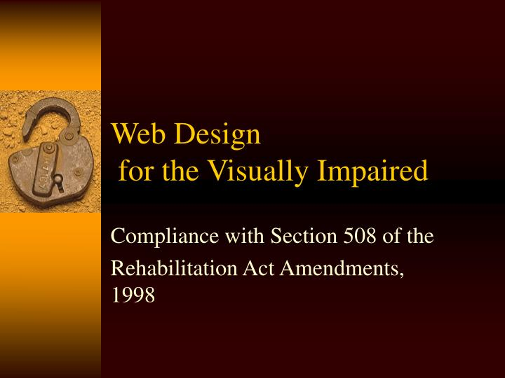 Web design for the visually impaired