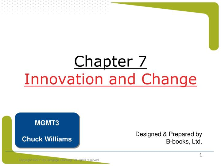 chapter 7 innovation and change n.