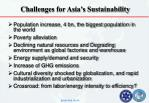 challenges for asia s sustainability