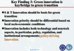 key finding 3 green innovation is key bridge to green transition