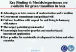 key finding 4 models experiences are available for green transition in asia