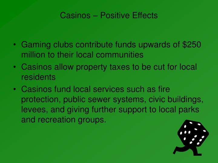 the rise of casino gambling as a negative effect on the community Of vgms into hotels and clubs in tasmania and does the rise in taxation harms of gambling the question that also needed to be asked was what proportion of the total gambling population fits into the 'problem gambler' range machines into pubs and clubs has had a negative impact on the community.