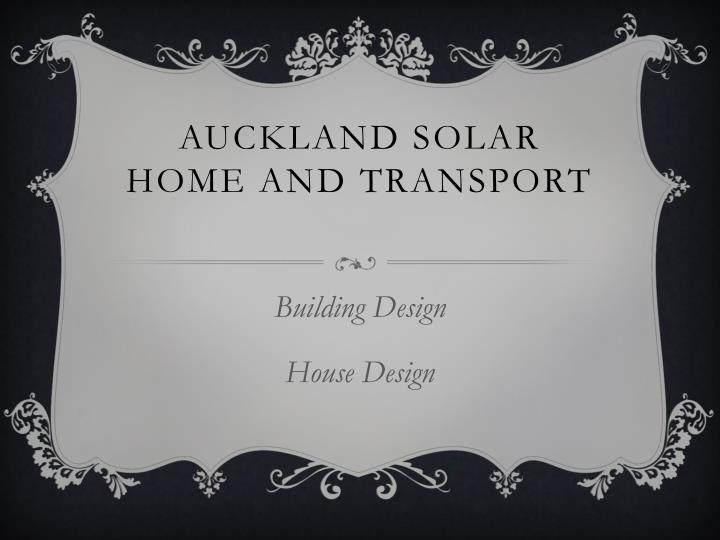 auckland solar home and transport n.
