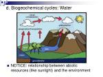 d biogeochemical cycles water