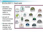 ecology f food web