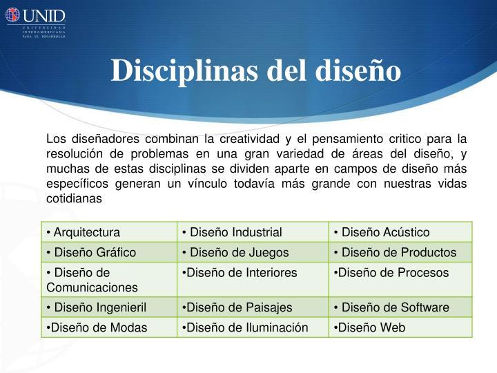 Disciplinas del diseño