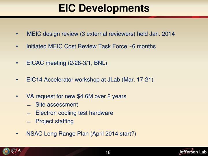 EIC Developments