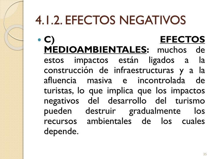 4.1.2. EFECTOS NEGATIVOS