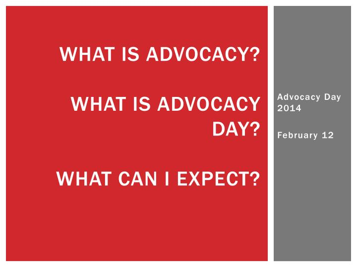 what is advocacy what is advocacy day what can i expect n.