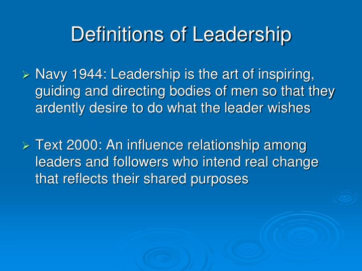 Definitions of Leadership