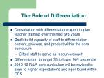the role of differentiation