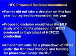 hfc proposed decision amendment