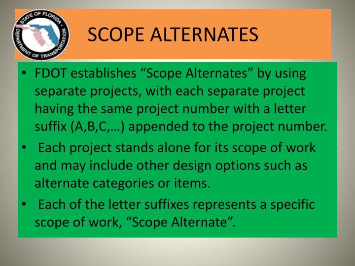 Scope alternates1