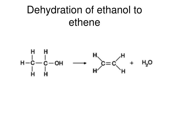 Dehydration of ethanol to ethene