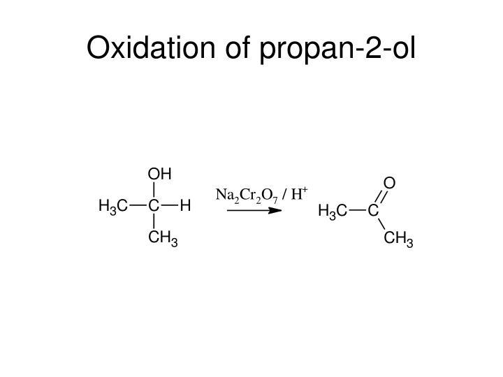 Oxidation of propan-2-ol