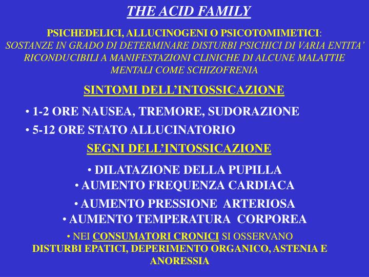 THE ACID FAMILY