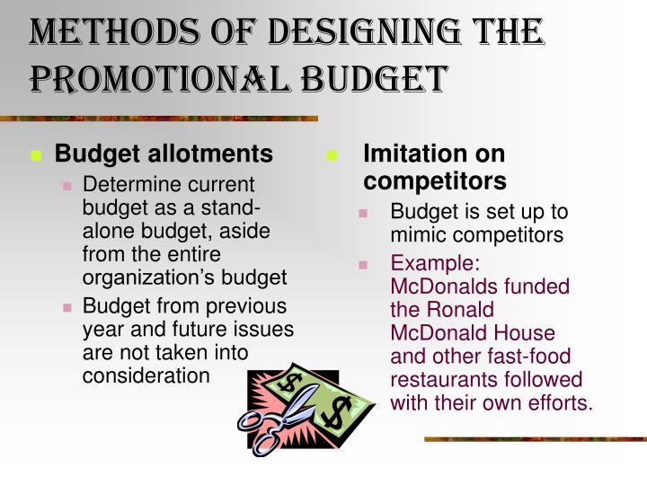 Budget allotments