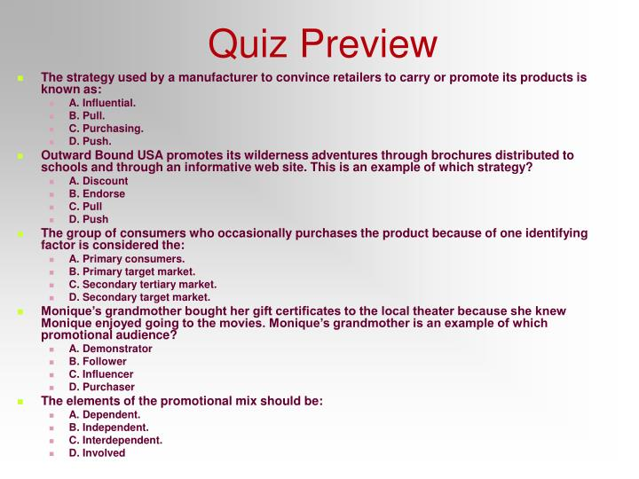 Quiz Preview