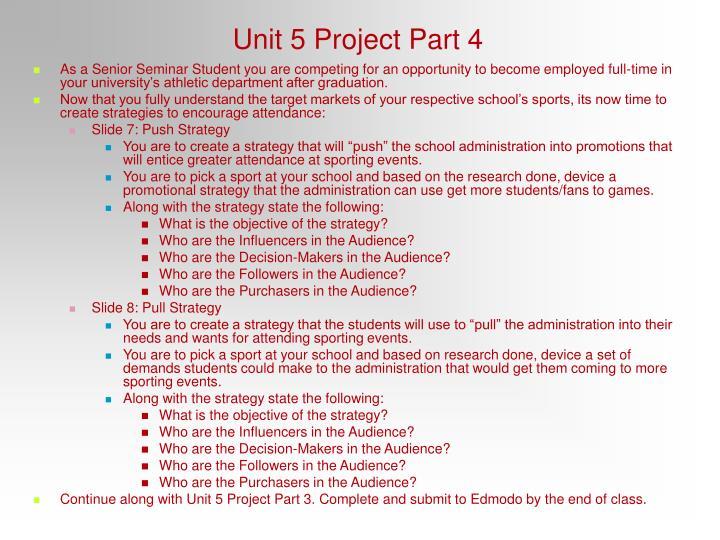 Unit 5 Project Part 4
