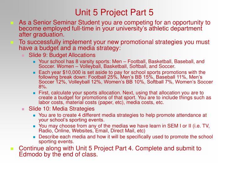 Unit 5 Project Part 5