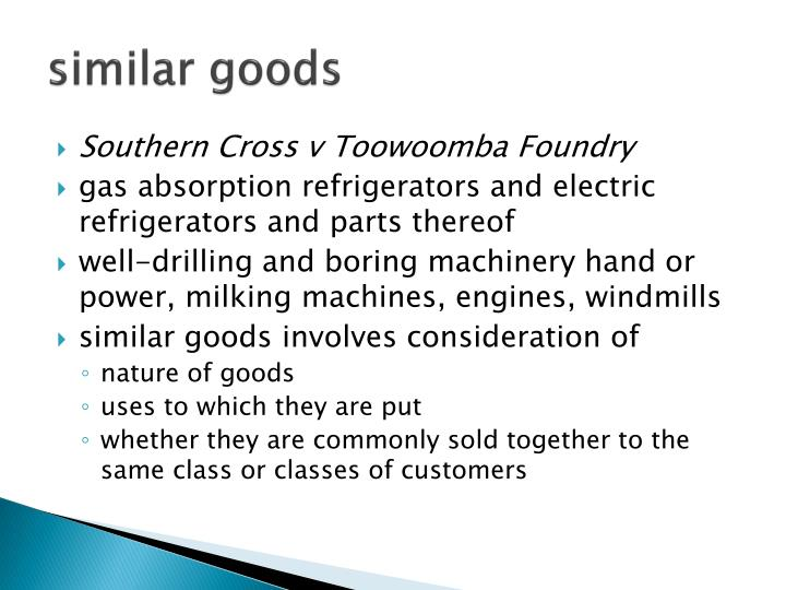 similar goods