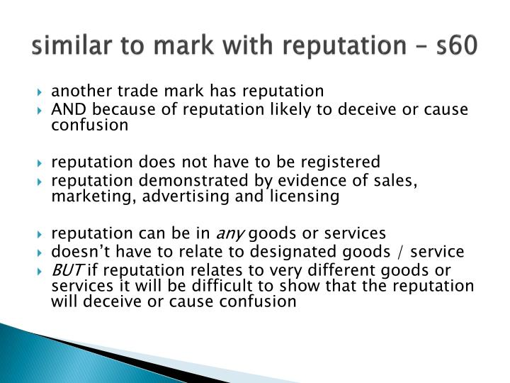 similar to mark with reputation – s60