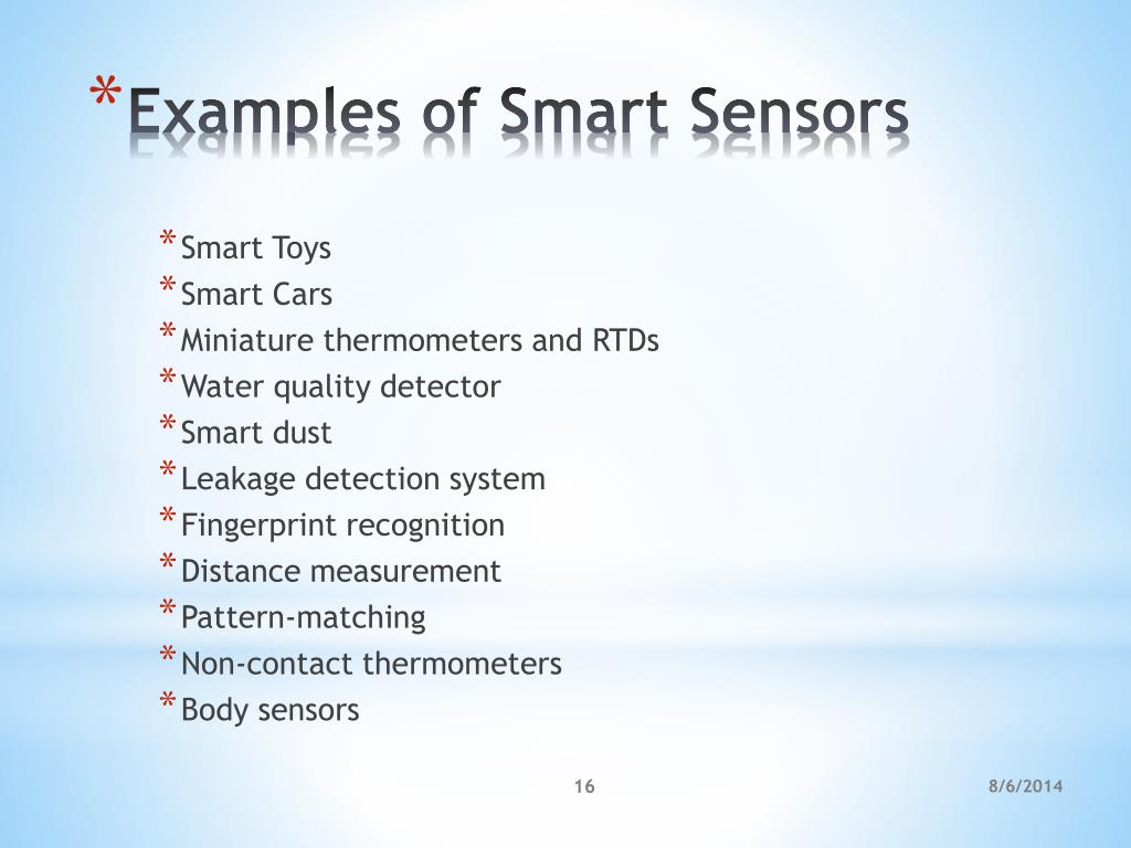 PPT - Smart Sensors PowerPoint Presentation - ID:2941666