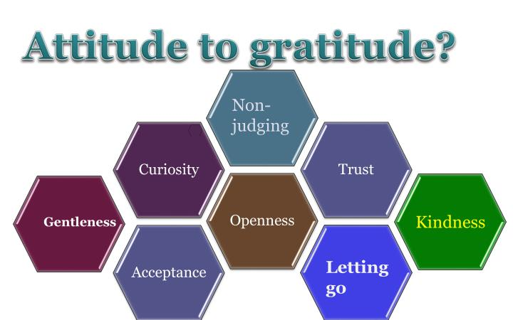 Attitude to gratitude?