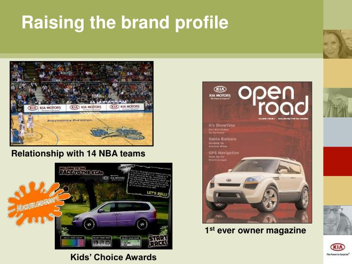 Raising the brand profile