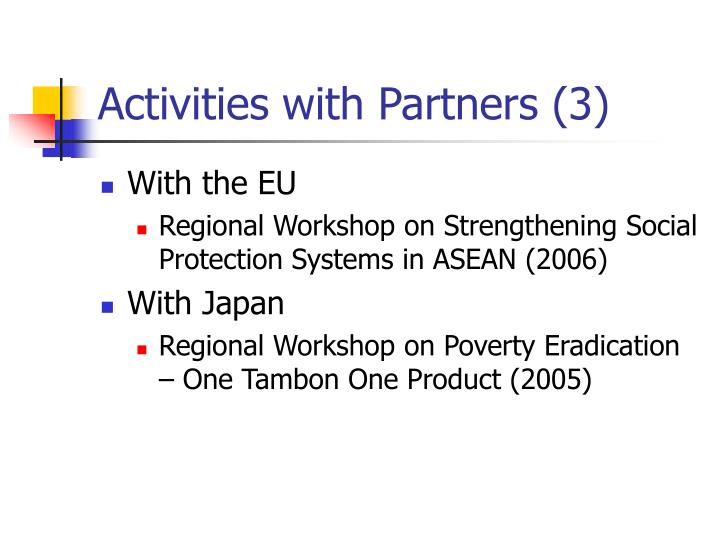 Activities with Partners (3)