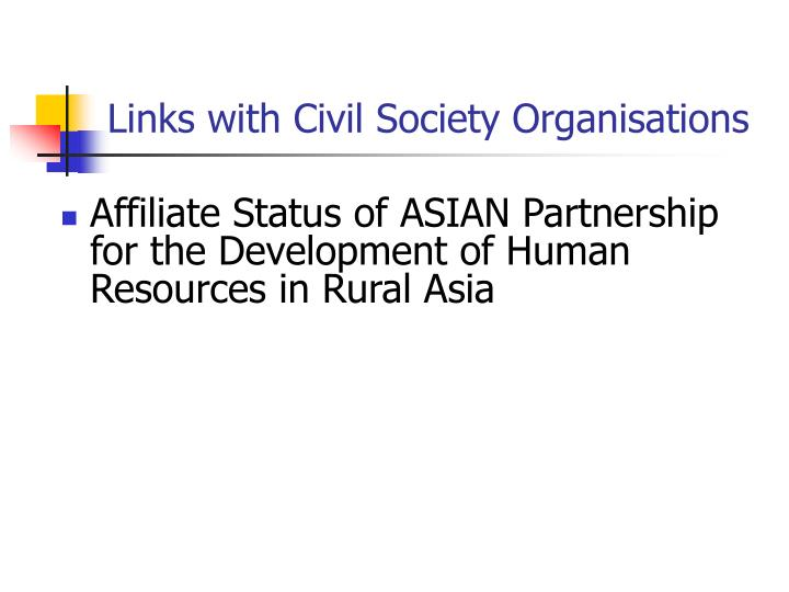 Links with Civil Society Organisations