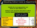 allocating indirect costs to departments