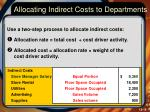 allocating indirect costs to departments1
