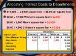 allocating indirect costs to departments3