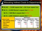 allocating indirect costs to departments4