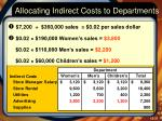 allocating indirect costs to departments5