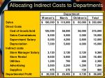 allocating indirect costs to departments8